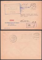 DDR ZKD-Kontrolle Richtige Anschrift -1501/PA 2-,  Ortsbrief BERLIN VEB Messelektronik R-F-T 12.12.66 - Service