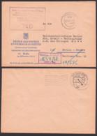 DDR ZKD-Kontrolle Richtige Anschrift -1519/Pkw -, Ortsbrief BERLIN FDGB 16.6.67 Nach Pankow Reichsbahndirektion - [6] Democratic Republic