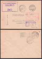 DDR ZKD-Kontrolle Richtige Anschrift -1516/Köp 1 -, Berlin Rat Des Stadtbezirkes Friedrichshain Ortsbrief 8.10.65 Altst. - [6] Oost-Duitsland
