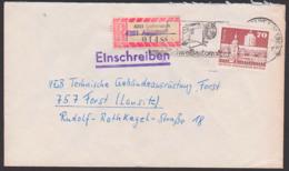 Augsdorf R-Brief Mit R-Zettel Von Lutherstadt Eisleben 2 Als Privorium, MWSt. Schweißautomaten Nach Forst - DDR