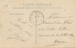 CP Envoyée à La Petite Celle Commune La Celle St Cyr CP Bergeret Petite Fille Dentelle - Autres Communes