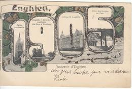 Enghien - Souvenir D' (1905, Multi Vues, Colorisée, Edition Edmond Duwez) - Enghien - Edingen