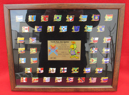 VINTAGE TENTH PAN AM GAMES INDIANAPOLIS UNITED STATES 1987 COLLECTOR SET FRAMED PINS BADGES!!! - Apparel, Souvenirs & Other