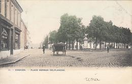Enghien - Place Herman Delplanche (animée, Colorisée, Attelage, Phot. Bertels) - Enghien - Edingen