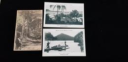 3 Cp Océanie Nouvelle Hébrides Rade De Port Vila Eglise école Avenue Des Cocotiers Rivière De Rewa Archipel Des Fidji - Postcards