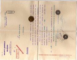 3 Documents Société Générale De Belgique 1914 - Madame Veuve Edmond David Château De Flawinne - Banque & Assurance