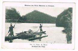 CPA.Océanie.Fidji. Sur La Rivière De Rewa. Missions Des Pères Mariste (F.244) - Fidji