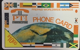 Paco \ STATI UNITI D'AMERICA \ PT1 \ US-PT1-05 \ Earth And Flags $10 - Expiry 1999-10 \ Usata - Andere
