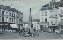 Ath - Marché Aux Toiles (animée, SBP N° 23, 1908, Cercle Colombophile, Estaminet, Attelage..) - Ath