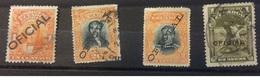 Ecuador Revenue Oficial Overprints Including 1899 Issue - Ecuador