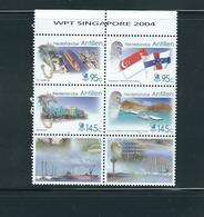 Netherlands Antilles, 2004, Singapore 2004 6v [+]  MNH - Antillas Holandesas