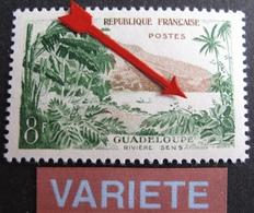 R1949/262 - 1957 - GUADELOUPE - N°1125 NEUF** - VARIETE ➤➤➤ Mer Blanche - Errors & Oddities