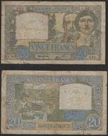 FRANCE Billet De 20 Francs 1941 Science Et Travail - 1871-1952 Circulated During XXth