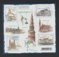 FRANCE / 2012 / Y&T N° 4637/4640 ** En Bloc-feuillet Ou F4637 ** : Capitales Eur. (Copenhague) - Gomme D'origine Intacte - Neufs