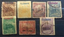 Nicaragua Early Telegraph Telegrafos Stamps - Nicaragua