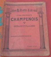 Catalogue 1922-1923 Etablissements CHAMPENOIS Cousances Aux Forges (Meuse) Instruments Et Machines Agricoles - Publicités