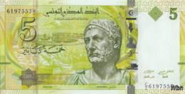 Tunisie 5 Dinars (P95) 2013 (Pref: C/2) -UNC- - Tunisie