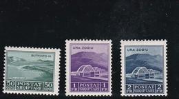 Albania 1930 Mi 223-225 * Trainbridges - Albanie