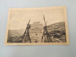 """CARTOLINA MONTE GRAPPA - LA SELLETTA DEL VALDEROA - CIPPO IN MEMORIA DE """"DI QUI NON SI PASSA"""" DEGLI EROICI ALPINI - Unclassified"""