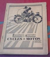 Catalogue Juin 1931 Fournitures Générales Pour Cycles Et Motos FAVOR Clermont-Ferrand (Puy De Dôme) - Advertising