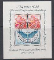 Switzerland 1938 Aarau M/s  Used (42158) M/s With Full Gum - Blokken