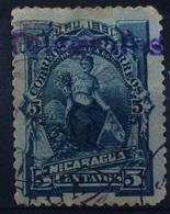 Nicaragua 1891 5 Centavos Blue - Nicaragua