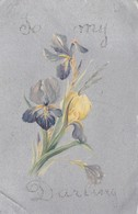"""Cpa 2 Scans - Illustrateur Sur Fond Gris  Bouquet D'iris To My Darling  """" The Popular Séries """" N°108 - Illustrators & Photographers"""