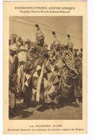 CPA.Niger. Expédition Citroën Centre Afrique. Guerriers Djermas En Costume De Parade .(F.263) - Niger
