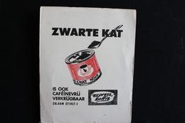 Wih / Buvard Café, Chat Noir - Koffie, Zwarte Kat.- 15x19 Cm .- - Café & Thé