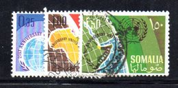 XP3678 - SOMALIA 1966 , Yvert N. 52/54  Usato . Onu - Somalia (1960-...)
