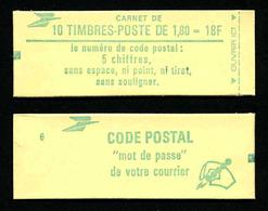 FRANCE - CARNET YT 2375-C1 - FERME - Gomme Brillante - DATE - Confectionneuse 6 - Carnets