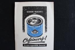 Wih * / Buvard Café, Chat Noir Décaféiné - Koffie, Zwarte Kat, Cafeïnevrij .- 15x19 Cm .- - Café & Thé