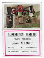 63 - SAINT SAUVES - CALENDRIER  - 1966  - J. MABRU - Alimentation - Format Poche - Calendriers