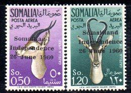XP3680 - SOMALIA 1960 , Posta Aerea Yvert N. 1/2  ***  MNH  Indipendenza - Somalia (1960-...)