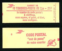 FRANCE - CARNET YT 2376-C2 - FERME - Gomme Brillante - DATE - Confectionneuse 6 - Carnets