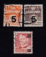DENMARK, 1955, Used Stamp(s), Overprints,  Mi 358=361, #10069,  3 Values Only - Denemarken