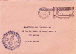 Lettre Flamme  ALFORTVILLE De 1978 + Sceau Gendarmerie Nationale - Marcophilie (Lettres)