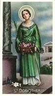 """Santino """"Santa Dorotea Vergine E Martire"""", """"Sancta Dorothea"""", Orazione - Imágenes Religiosas"""