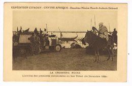 CPA. Tchad. Expédition Citroën Centre Afrique. Arrivée Des Premières Automobiles Au Lac.1924. (F.259) - Tsjaad