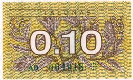 Lithuania 1991 0,1 Talonas UNC As Per Scan - Lituania