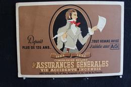 Wih / Buvard - Compagnies Belges - Bruxelles L'Assurances Générales -  .- 20x14 Cm .- - Banque & Assurance
