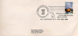 USA - GRAND RAPIDS MI -  GERALD R. FORD  MUSEUM  DEDICATION  -  ALL AMERICAN CITY 1981 - Celebrità