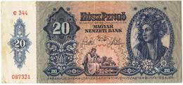Hungary 1941 20  PENGO As Per Scan - Hongrie