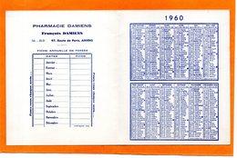 CALENDRIER DE POCHE. AMIENS ( SOMME ). PHARMACIE DAMIENS. 1960. Achat Immédiat - Calendriers