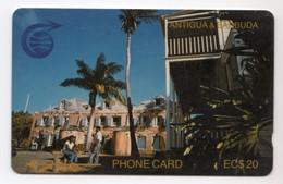 ANTIGUA & BARBUDA CABLE & WIRELESS Ref MV Cards ANT-3C 20$ 1990 CN 3CATC Nelson's Dockyard - Antigua And Barbuda