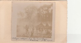 DALOA    Côte D'Ivoire      Village Attaqué Par Les Tirailleurs   TB PLAN  1906 CARTE PHOTO    RARETE - Côte-d'Ivoire