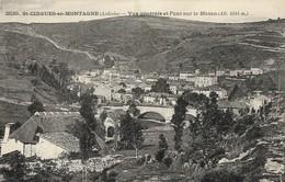 CARTE POSTALE ORIGINALE ANCIENNE : SAINT CIRGUES EN MONTAGNE VUE GENERALE ET  PONT SUR LE MAZAN  ARDECHE (07) - France