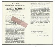 P 896. E.Pater SIMEON MEIJSCHMAN - Miss. BELG.KONGO/Kommissaris Missie LULUA-KATANGA -°PUURS 1905 /+KOLWEZI 1960 - Images Religieuses