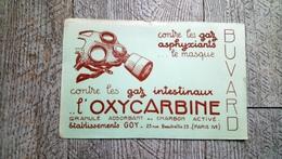 Buvard L'oxycarbine  Contre Les Gaz Intestinaux Humour Masque à Gaz Guerre 14-18 - Produits Pharmaceutiques