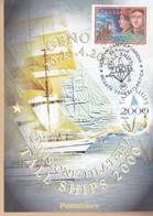 ITALIA REP. - 2000 - POSTE ITALIANE DIVISIONE FILATELIA GENOVA TALL SHIPS 2000. - 6. 1946-.. Repubblica